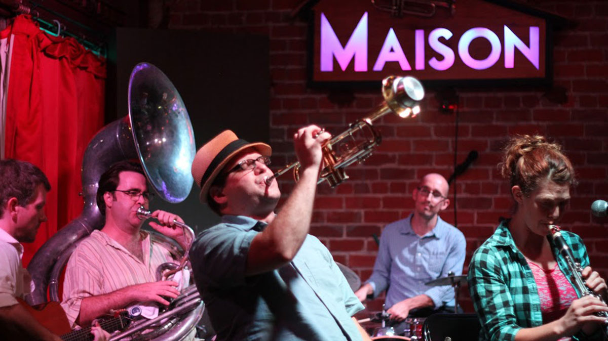 Live Jazz at The Maison on Frenchmen Street in New Orleans