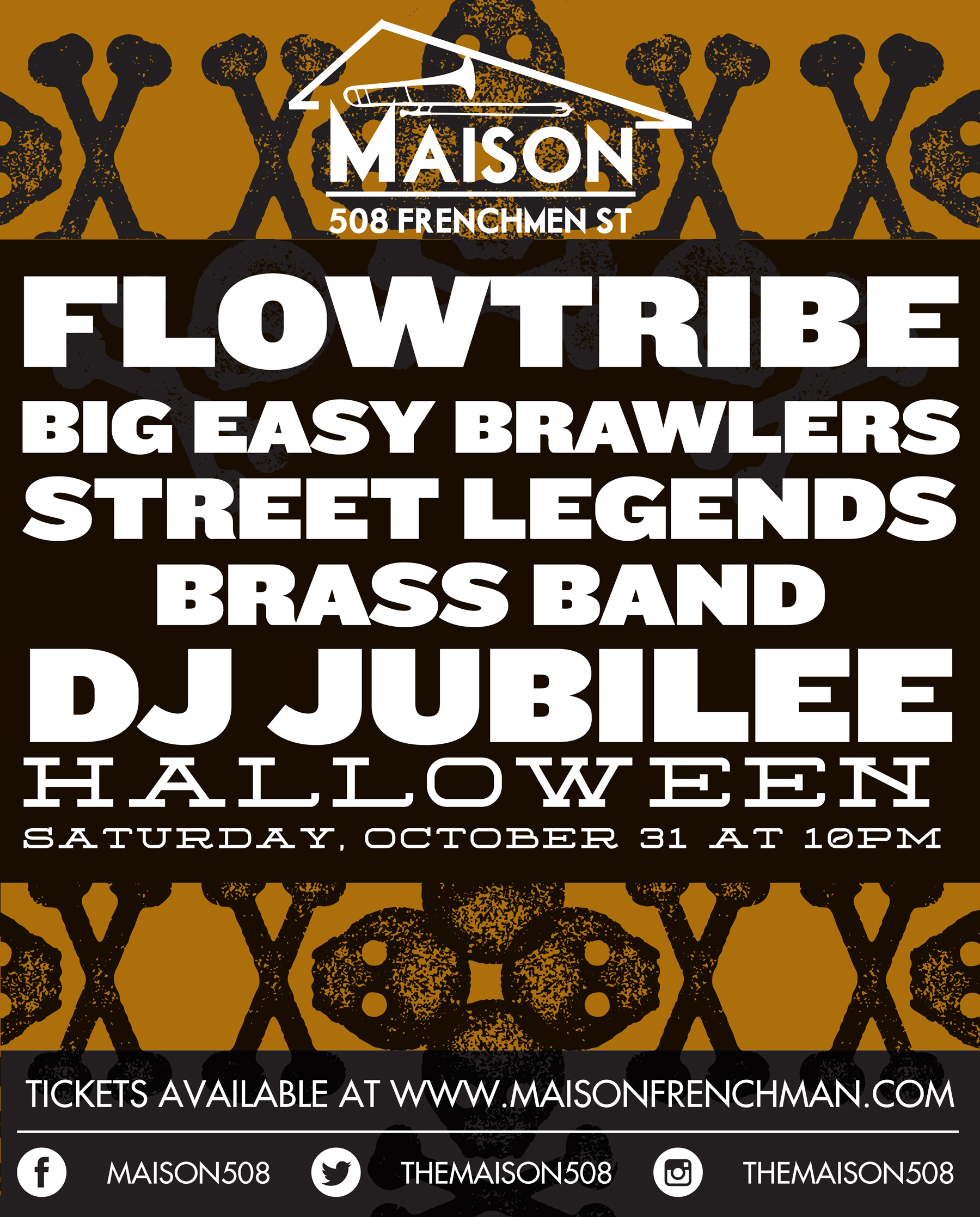 Halloween night at The Maison, October 31st, 2015