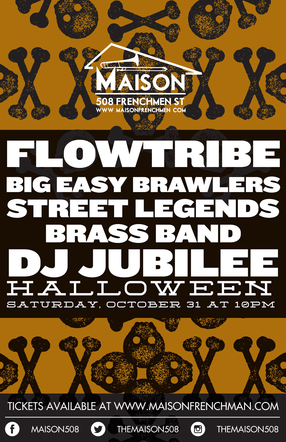 Halloween Night at The Maison on Frenchmen Street with Flowtribe and DJ Jubilee