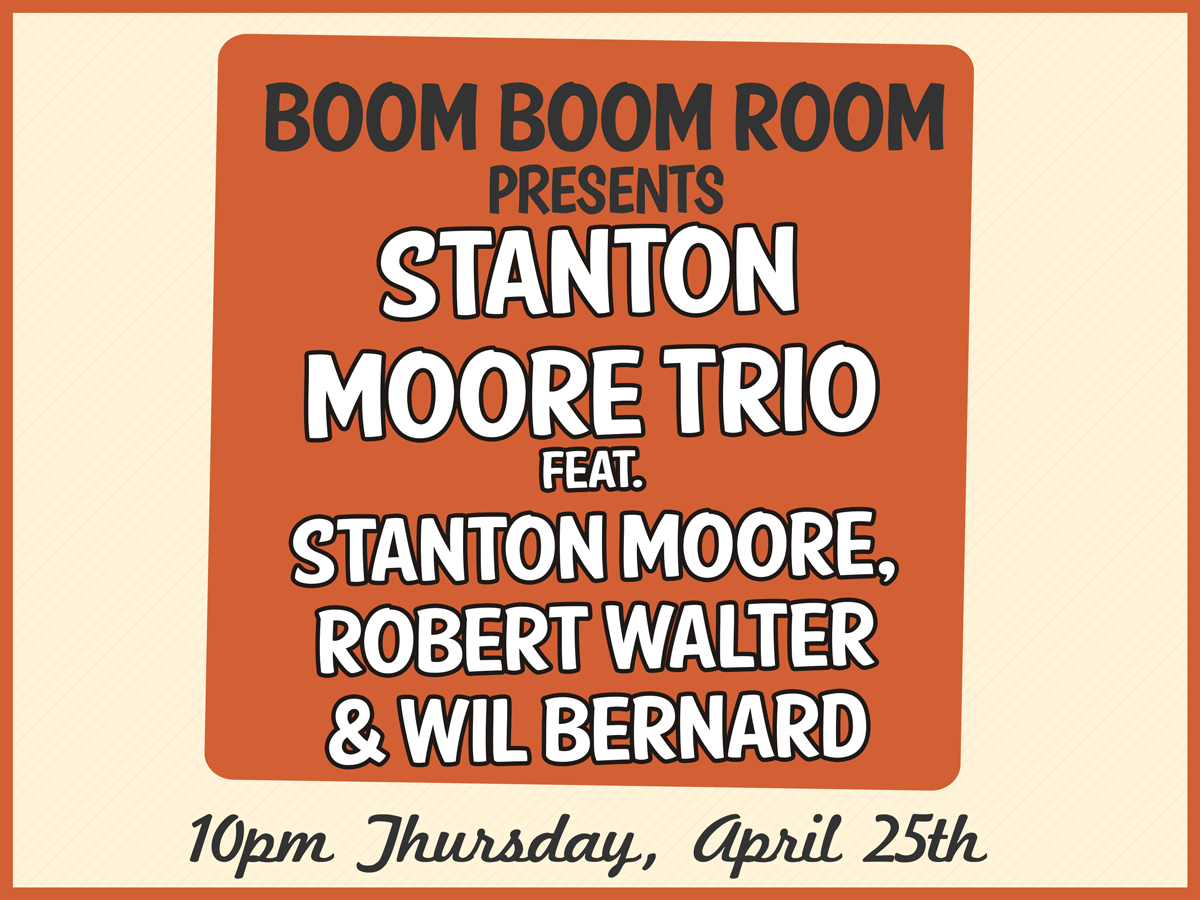 stanton moore trio fest late night 2019 at the maison on frenchmen st.