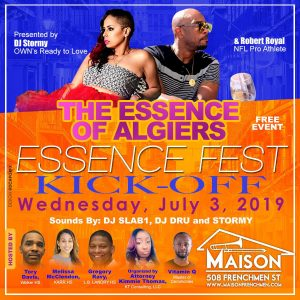The Essence of Algiers hosted by DJ Stormy & Robert Royals at The Maison @ The Maison | New Orleans | LA | US